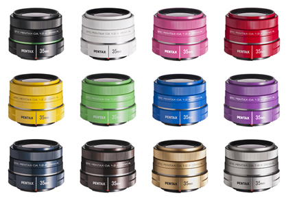 全12色のDA 35mm単焦点レンズ