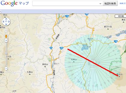 Googleマップと分度器で日の出の方位を調べる